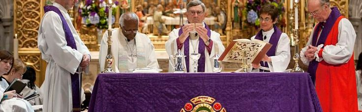 Communion being celebrated in an Episcopal Church - the gifts of God for the people of God!