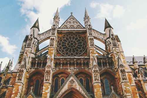 low angle photography of westminster abbey