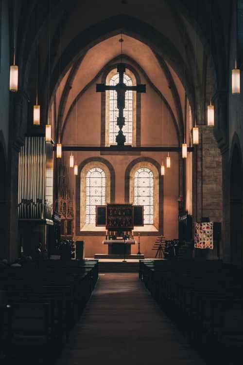 church aisle photo